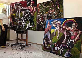 Werner Mühlbrecht im Atelier