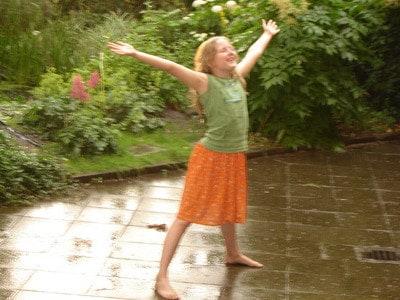 Irina im Regen